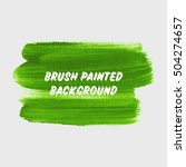 textured brush painted... | Shutterstock .eps vector #504274657