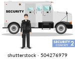 security concept. detailed... | Shutterstock .eps vector #504276979