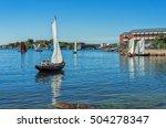 Sailboats In Karlshamn City Bay