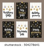 set christmas and happy new... | Shutterstock .eps vector #504278641