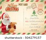 christmas postcard | Shutterstock .eps vector #504279157
