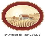 rural landscape in the frame  a ... | Shutterstock .eps vector #504284371