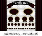 genealogical tree of your... | Shutterstock .eps vector #504285355