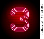 realistic red neon number.... | Shutterstock .eps vector #504285835