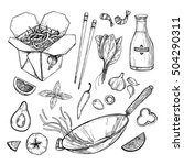 hand drawn vector illustration  ... | Shutterstock .eps vector #504290311