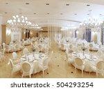 a grand restaurant and a... | Shutterstock . vector #504293254