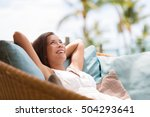 home lifestyle woman relaxing... | Shutterstock . vector #504293641