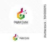 colorful letter d logo design... | Shutterstock .eps vector #504300091