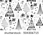 vector seamless pattern with... | Shutterstock .eps vector #504306715