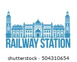 railway station in moscow.... | Shutterstock .eps vector #504310654