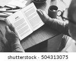 book break coffee leisure... | Shutterstock . vector #504313075