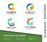 set letter c logo collection.... | Shutterstock .eps vector #504320605
