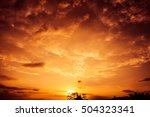 colorful dramatic sky with... | Shutterstock . vector #504323341