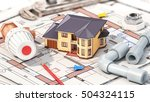 construction concept. project... | Shutterstock . vector #504324115