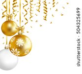 christmas  card with gold ... | Shutterstock .eps vector #504325699