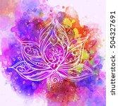 ornamental boho style lotus... | Shutterstock .eps vector #504327691