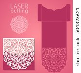 vector die laser cut envelope... | Shutterstock .eps vector #504328621