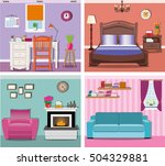 stylish modern graphic rooms...   Shutterstock .eps vector #504329881