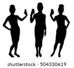girl black silhouettes taking...   Shutterstock .eps vector #504330619