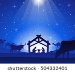 nativity scene with jesus  mary ... | Shutterstock .eps vector #504332401