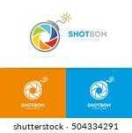 vector of a camera shutter and... | Shutterstock .eps vector #504334291