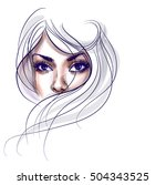 vector  stylish  original hand... | Shutterstock .eps vector #504343525
