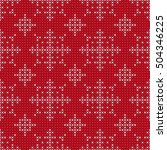 christmas and new year knitting ... | Shutterstock .eps vector #504346225