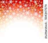 red christmas background with...   Shutterstock . vector #504347074