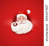 smiling santa claus character... | Shutterstock .eps vector #504347407