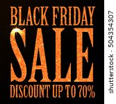 black friday sale black tag ... | Shutterstock .eps vector #504354307