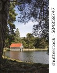boathouse at loch vaa in the... | Shutterstock . vector #504358747