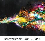 modern abstract motion banner... | Shutterstock . vector #504361351