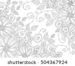 vector pattern for coloring... | Shutterstock .eps vector #504367924