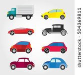 car icon with color vector... | Shutterstock .eps vector #504369811