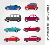 car icon with color vector... | Shutterstock .eps vector #504369865