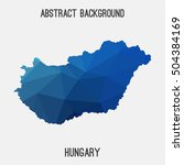 hungary map in geometric... | Shutterstock .eps vector #504384169