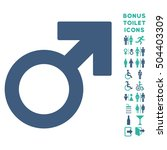 male symbol icon and bonus... | Shutterstock .eps vector #504403309