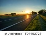 empty asphalt road in a rural... | Shutterstock . vector #504403729