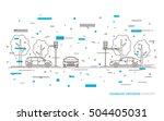 traffic lights at the... | Shutterstock .eps vector #504405031