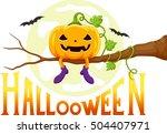 for halloween   funny pumpkins... | Shutterstock .eps vector #504407971