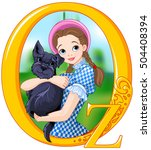 dorothy and toto. wizard of oz... | Shutterstock .eps vector #504408394