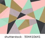 vector triangle background.... | Shutterstock .eps vector #504410641