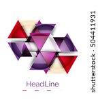 modern business triangle... | Shutterstock .eps vector #504411931