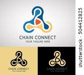 chain connect logo design for...   Shutterstock .eps vector #504412825