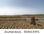 global warming  drought in the... | Shutterstock . vector #504415591