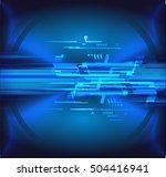 future technology  blue light... | Shutterstock .eps vector #504416941