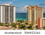 hallandale beach skyline in... | Shutterstock . vector #504422161