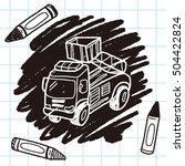 truck doodle | Shutterstock .eps vector #504422824