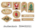 new year and christmas gift... | Shutterstock .eps vector #504431011