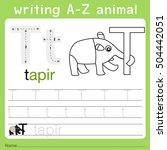 illustrator of writing a z... | Shutterstock .eps vector #504442051